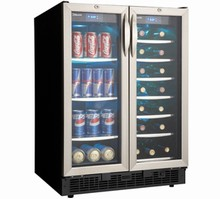 Silhouette DBC2760BLS 24in French Door Dual Zone Built-in Beverage Center/ Wine Cooler 5.0 cu. ft.
