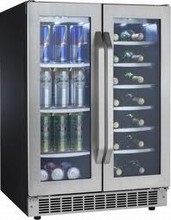 Silhouette Select DBC7070BLSST 24in Undercounter French Door Beverage Cooler 5.3 cu. ft.