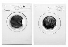 Maytag MHWC7500YW 24in Compact Washer 2.3 Cu.Ft. and YMED7500YW Electric Dryer, 3.8 Cu.Ft. Stackable, White