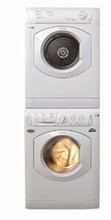 Ariston 24in Compact Washer ARWL129NA and Electric Dryer TVF63XNA Laundry Pair, White