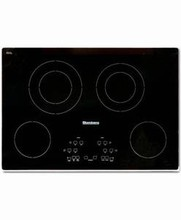Blomberg CTE30400 30in Electric Cooktop, 4 Burners, Black Glass Ceramic CookTop