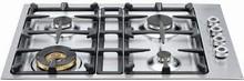Bertazzoni Professional Series QB30400X 30in Low-Profile Gas Cooktop 4 sealed brass burners
