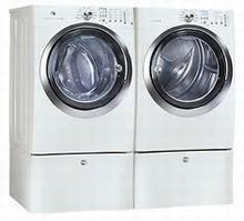 Electrolux Wave-Touch Steam Washer EWFLS70JIW 5.1 Cu. Ft., Steam Dryer EWMED7CJIW  8.0 Cu. Ft., Island White