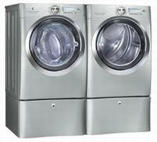 Electrolux IQ-Touch Steam Washer EIFLS60LSS 5.0 Cu. Ft., Gas Steam Dryer EIMGD60LSS 8.0 Cu. Ft. Silver Sands