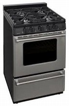 Premier Pro Series P24S3102 Commercial Style 24-in Slide-In Gas Range 3 cu. ft. with 4 Sealed Burners