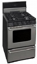 Premier Pro Series P24S3402 Commercial Style 24-in Gas Range 3 cu. ft. with 4 Sealed Burners