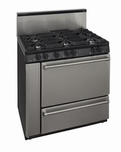 Premier Pro Series P36S328BP Commercial Style 36-in Gas Range 3.9 cu. ft. with 6 Sealed Burners
