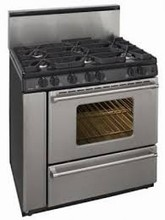 Premier Pro Series P36S3282 Commercial Style 36-in Gas Range 3.9 cu. ft. with 6 Sealed Burners
