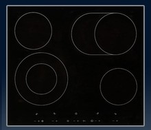 Porter and Charles CC60V 24in Electric Ceramic Cooktop 4 Hi-Lite zones with 15 power levels