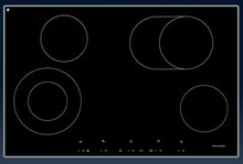Porter & Charles CC76-2 30in Electric Ceramic Cooktop 4 Hi-Lite burners with 15 power levels