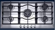 Porter & Charles CG76WOK-F 30in Gas Cooktop 5 sealed burners and Triple ring wok burner 16,000 BTU