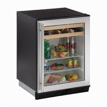 U-Line 1075BEVS-13 1000 Series 24in Beverage Center 5.6 Cu. Ft. with 65 Cans and 16 Wine Bottles Capacity