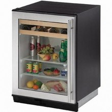 U-Line 1075BEVS-15 1000 Series 24in Beverage Center 5.6 Cu. Ft. with 65 Cans and 16 Wine Bottles Capacity