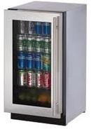 U-Line 3018RGLS-15 Modular 3000 Series 18in Undercounter Glass Door All Refrigerator 3.6 cu. ft.
