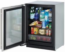 U-Line 3024RGLS-01 3000 Modular Series 24in Undercounter Glass Door Refrigerator 4.9 cu. ft.