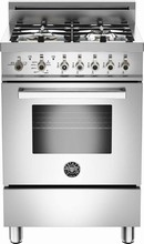 Bertazzoni Professional Series PRO244GASXLP 24in Pro-Style Gas Range 4 Sealed Burners