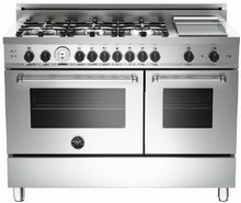 Bertazzoni Master series MAS486GGASXTLP 48in Pro-Style Gas Range 6 Sealed Brass Burners