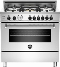 Bertazzoni Master series MAS365GASXT 36in Convection Pro Gas Range 5 sealed brass burner