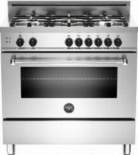 Bertazzoni Master series MAS365DFMXE 36in Pro-Style Dual Fuel Range 5 Sealed Burners