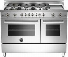 Bertazzoni Professional series PRO486GGASX 48in Pro-Style Gas Range 6 Sealed Brass Burners
