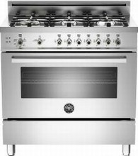 Bertazzoni Professional series PRO366GASX 36in Convection Gas Range 6 Sealed Brass Burners