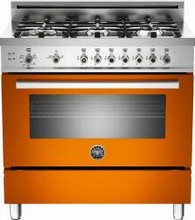 Bertazzoni Professional series PRO366GASAR 36in Pro-Style Gas Range 5 Sealed Brass Burners