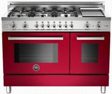 Bertazzoni Professional series PRO486GDFSVI 48in Self-Clean Duel Fuel Range 6 Sealed Brass Burners