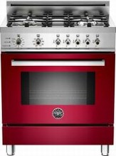 Bertazzoni Professional series PRO304DFSVI 30in Self-Clean Duel Fuel Range 4 Sealed Brass Burners