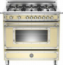 Bertazzoni Heritage series HER366GASCR 36in Gas Range 6 Sealed Brass Burners
