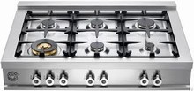 Bertazzoni Professional Series CB36600X 36in Gas Rangetop 6 sealed brass burners 750-18,000 btus