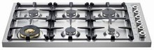 Bertazzoni Professional Series DB36600X 36in Pro-Style Gas Cooktop 6 Sealed Brass Burners