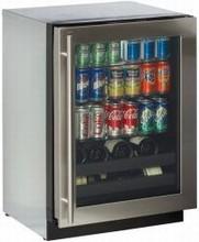 U Line 3024BEVS-00 3000 Series 24in Beverage Center 4.9 cu. ft. with 3 Glass Shelves