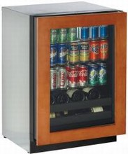 U Line 3024BEVOL-00 3000 Series 24in Beverage Center 4.9 cu. ft. with 3 Glass Shelves