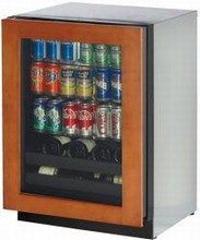 U Line 3024BEVOL-01 3000 Series 24in Beverage Center 4.9 cu. ft. with 3 Glass Shelves