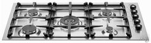 Bertazzoni Professional Series Q36500X 36in pro-style low-profile gas cooktop 5 sealed burners