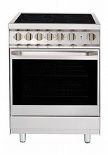 Porter & Charles FEC60B 24in slide-in electric convection range 2.25 cu.ft. with 8 cooking functions