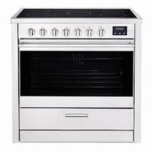 Porter & Charles FEC90B 36in slide-in electric convection range 4.3 Cu. Ft. with 08 cooking functions