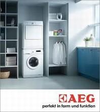 AEG Lavamat L71400 24in 7KG Washer AND AEG Lavamat 7KG T65179AV Electric Vented Dryer, White