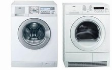 AEG Lavamat L81400 24in 8KG Washer AND AEG Lavamat T76280IC 8KG Electric Condensing Dryer
