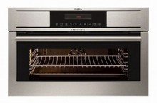 Aeg KS8100001M 24in built-in steam oven anti-finger print stainless steel 1.2 cu.ft. with 17 functions