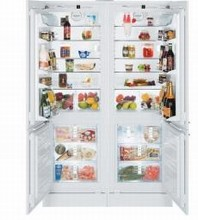 Liebherr SBS20H0 48in Built-In Energy Star Fully Integrated Side-By-Side Refrigerator Freezer 19 cu. ft.