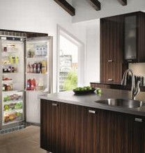 Liebherr RB1410 24in Energy Star Built-in All-Refrigerator 12.8 cu. ft. with Beverage Rack and Glass Shelves