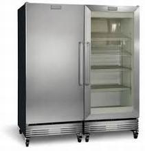 Frigidaire FCGM181RQB-FCFS181LQB 64in Commercial All-Refrigerator All Freezer 37.2 cu. ft.