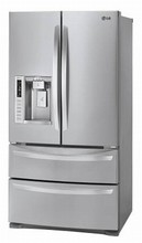 LG LMXS27626S 36in French 4-Door Refrigerator 26.8 cu. ft. Slim Indoor Ice Maker, Fresh Air Filter