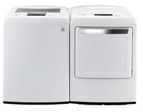 LG WT1101CW HE True Balance 5.0 Cu. Ft. Washer, DLE1101W 7.3 cu.ft. Dryer