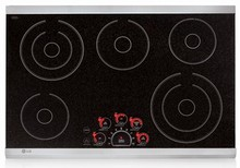 LG LCE3081ST 30in Electric Cooktop 5 Steady Heat Elements, SmoothTouch Controls