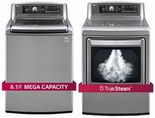 LG WT5680HVA HE Turbo Wash Energy Star MEGA Steam Washer 6.1 Cu. Ft., DLGX5681V 7.3 cu.ft. GAS steam Dryer
