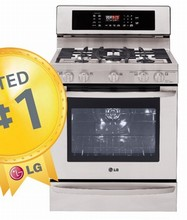 LG LRG3097ST 30in Convection Gas Range 5.4 cu.ft. UltraHeatT 19,000 BTU Burner