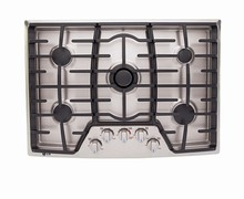 LG LCG3091ST 30in Gas Cooktop 19000 btu with 5 Sealed Burners blue LCD backlighting