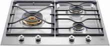 Bertazzoni Professional Series PMB24300X 24in Segmented cooktop 3 Sealed Brass Burners 18,000 BTU